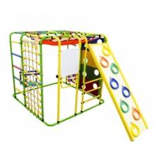 Детский спортивный комплекс Формула здоровья Кубик У Плюс салатовый/радуга