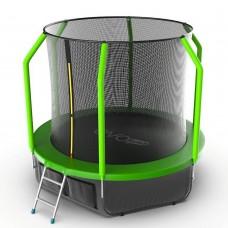 Батут EVO JUMP Cosmo 8ft (Green) с лестницей + нижняя сеть