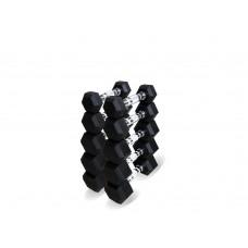 Набор гексагональных гантелей 5 пар от 1 до 5 кг