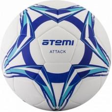 Мяч футбольный Atemi ATTACK PU, бел/син/гол., р.5