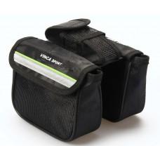 Двойная сумка на раму с карманом для моб. телефона
