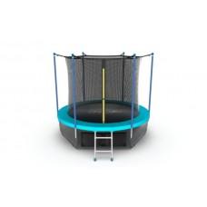 Батут EVO JUMP Internal 6ft (Wave) с лестницей + нижняя сеть