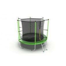 Батут EVO JUMP Internal 8ft (Green) с лестницей
