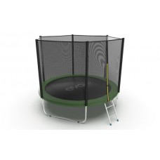 Батут EVO JUMP External 10ft (Green) с лестницей