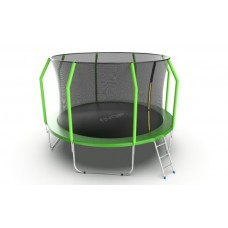 Батут EVO JUMP Cosmo 12ft (Green) с лестницей